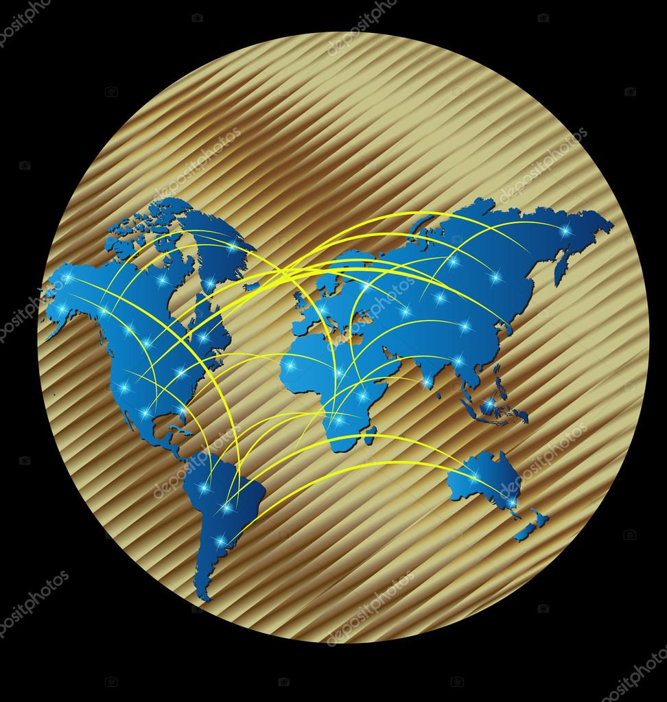 Map gold world stock vector glopphy 112525622 map gold world stock vector gumiabroncs Image collections
