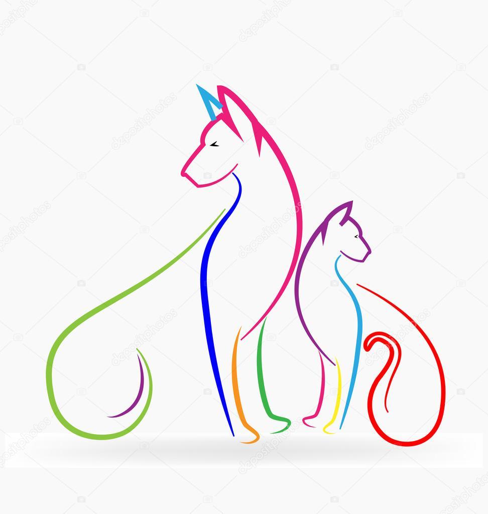 Cat Dog Rabbit Logo