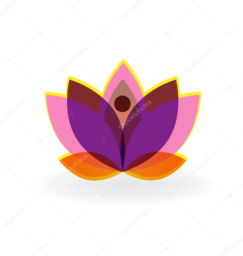 Logo Lotus Flower Stock Vector Glopphy 118212766
