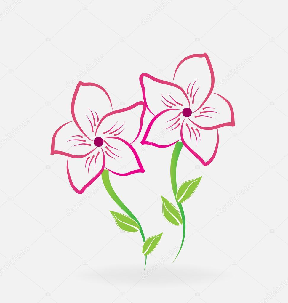 Vector De Logo De Flores De Lirios Archivo Imagenes Vectoriales
