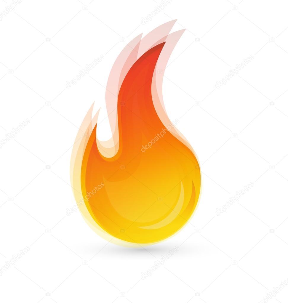 Fire flames logo vector eps10 concept