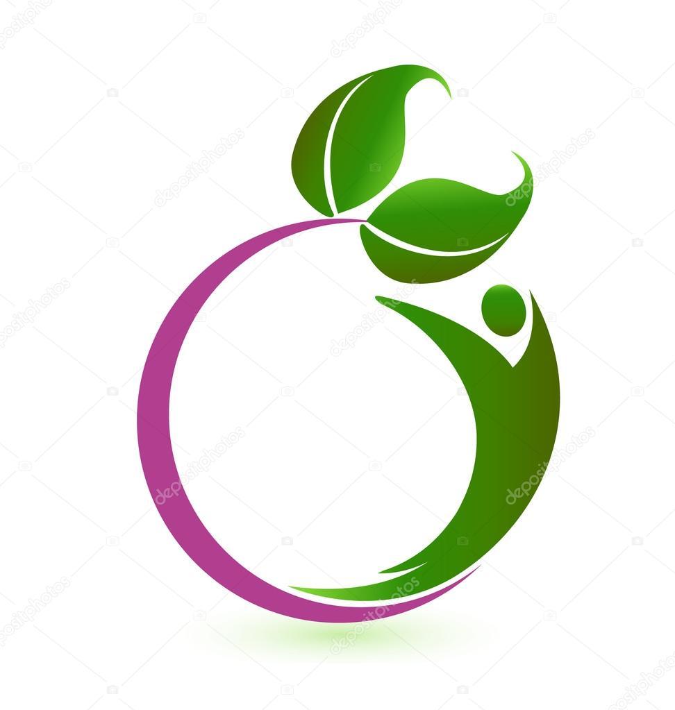 Health nature logo vector — Stock Vector © Glopphy #53411053
