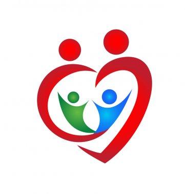 Logo Family symbol heart shape