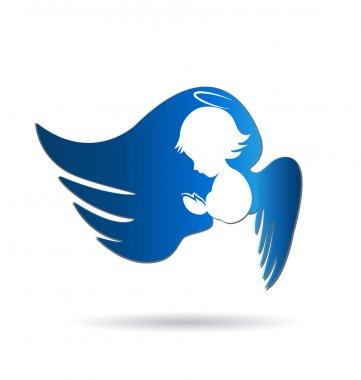 Angel icon logo