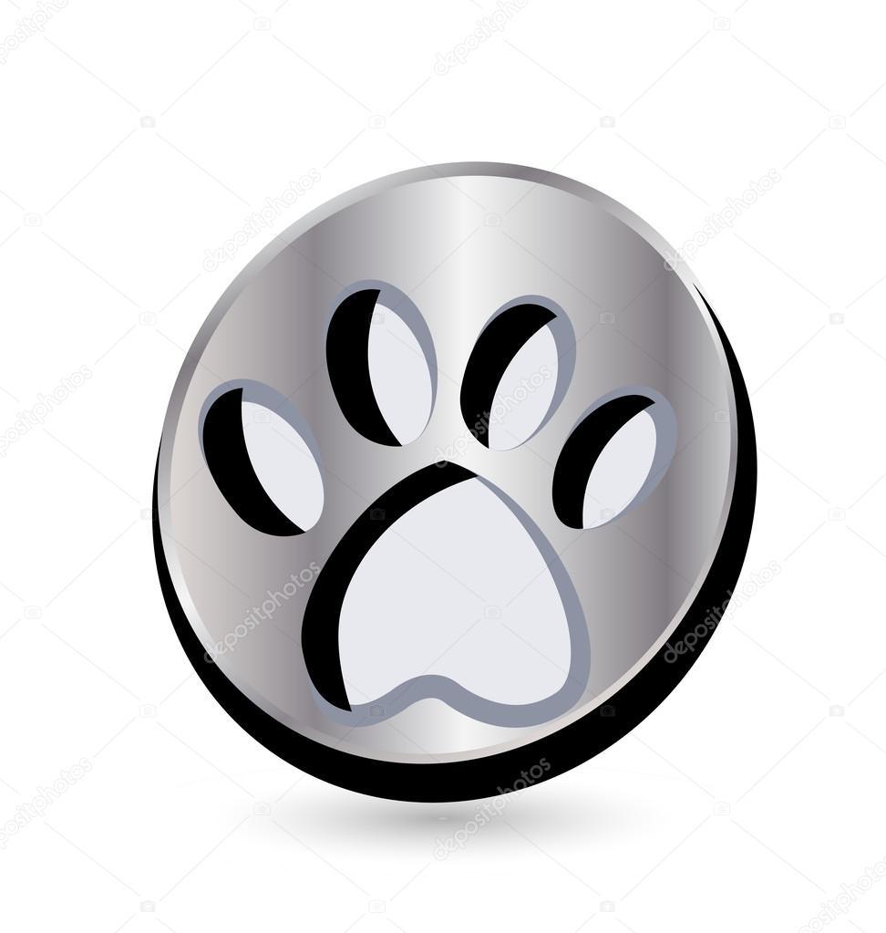 Logotipo De Huella De Animal Logotipo De Medalla De Plata De