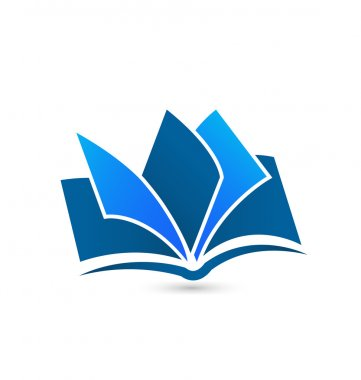 Blue book logo vector