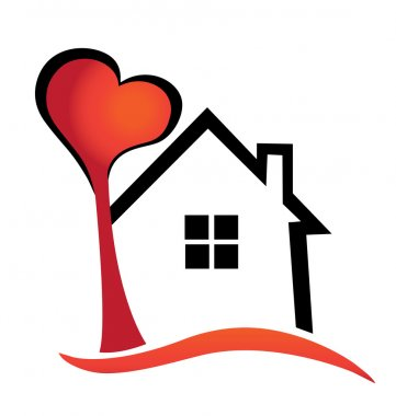 House and heart tree logo