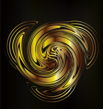 Abstract golden creative web graphic design background
