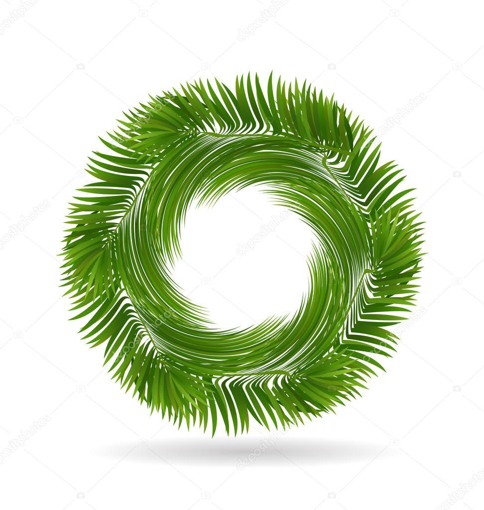 Palm tree leafs logo
