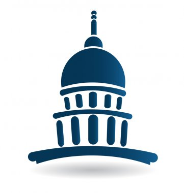 Capitol building illustration icon vector logo design