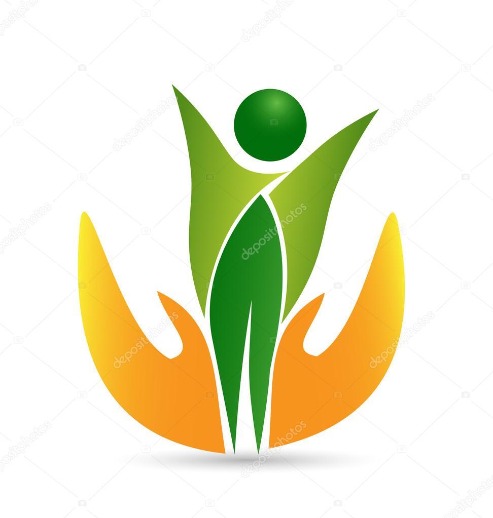 Healthy life body care web logo design