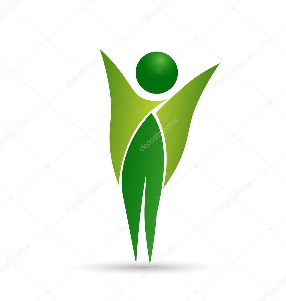Healthy life web logo design