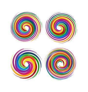 Set of spiral waves logo