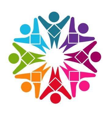 Logo teamwork diversity people