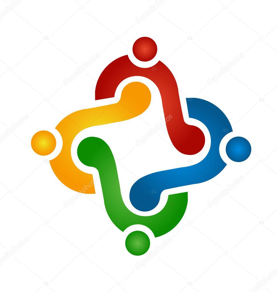 Logo teamwork helping people — Stock Vector © Glopphy ...