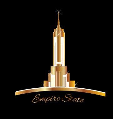 Empire state New York golden logo