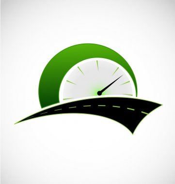 Fast speed odometer logo