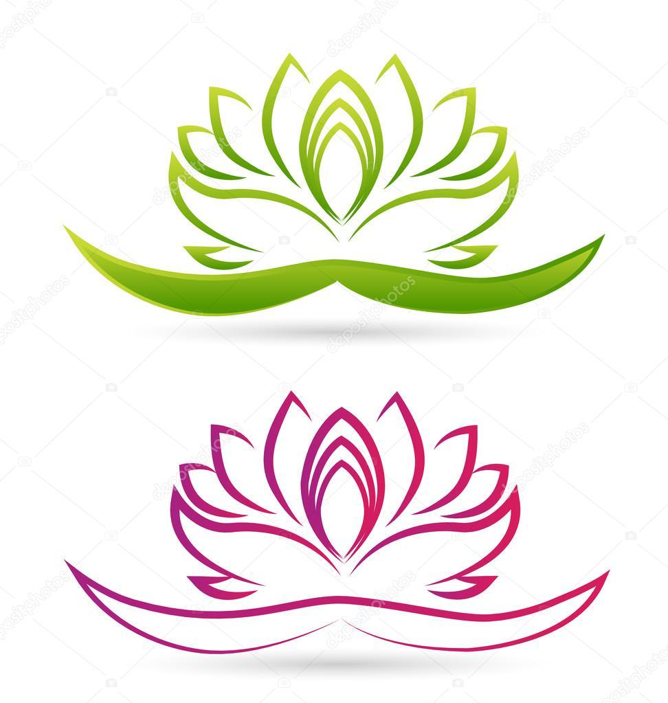 Flor Para Logotipo Logotipo De Flores De Loto Vector De Stock