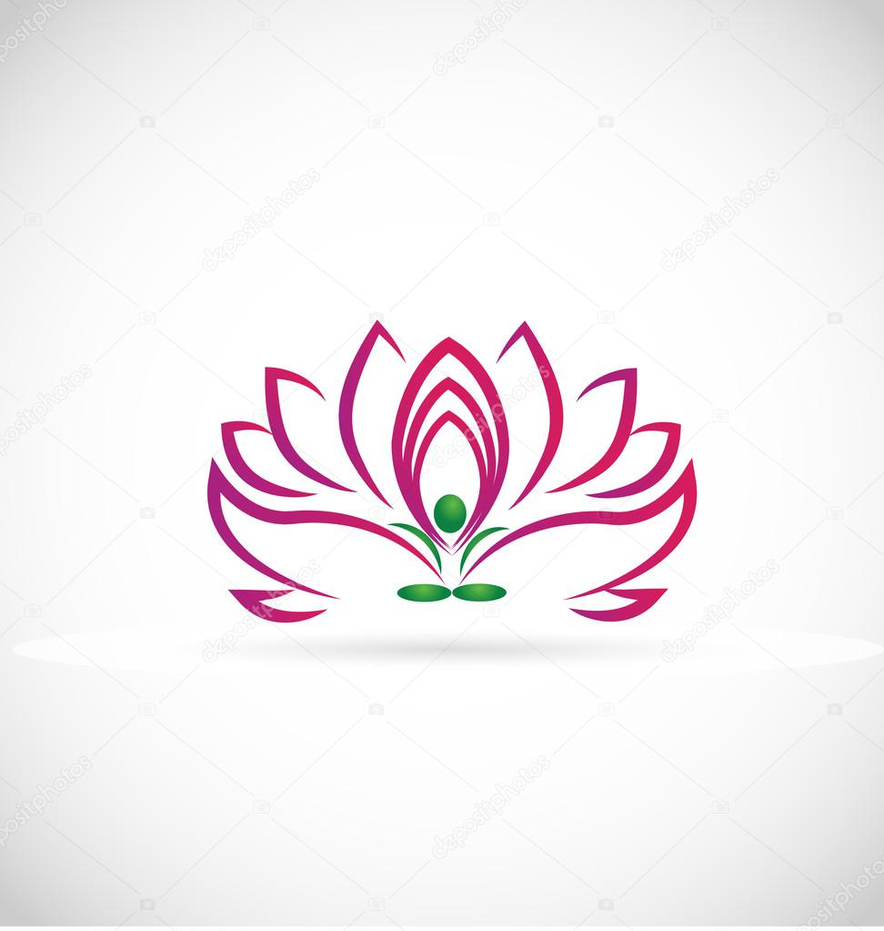 Logo yoga lotus flower