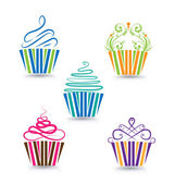 Fotografie Cupcake stylized logo template