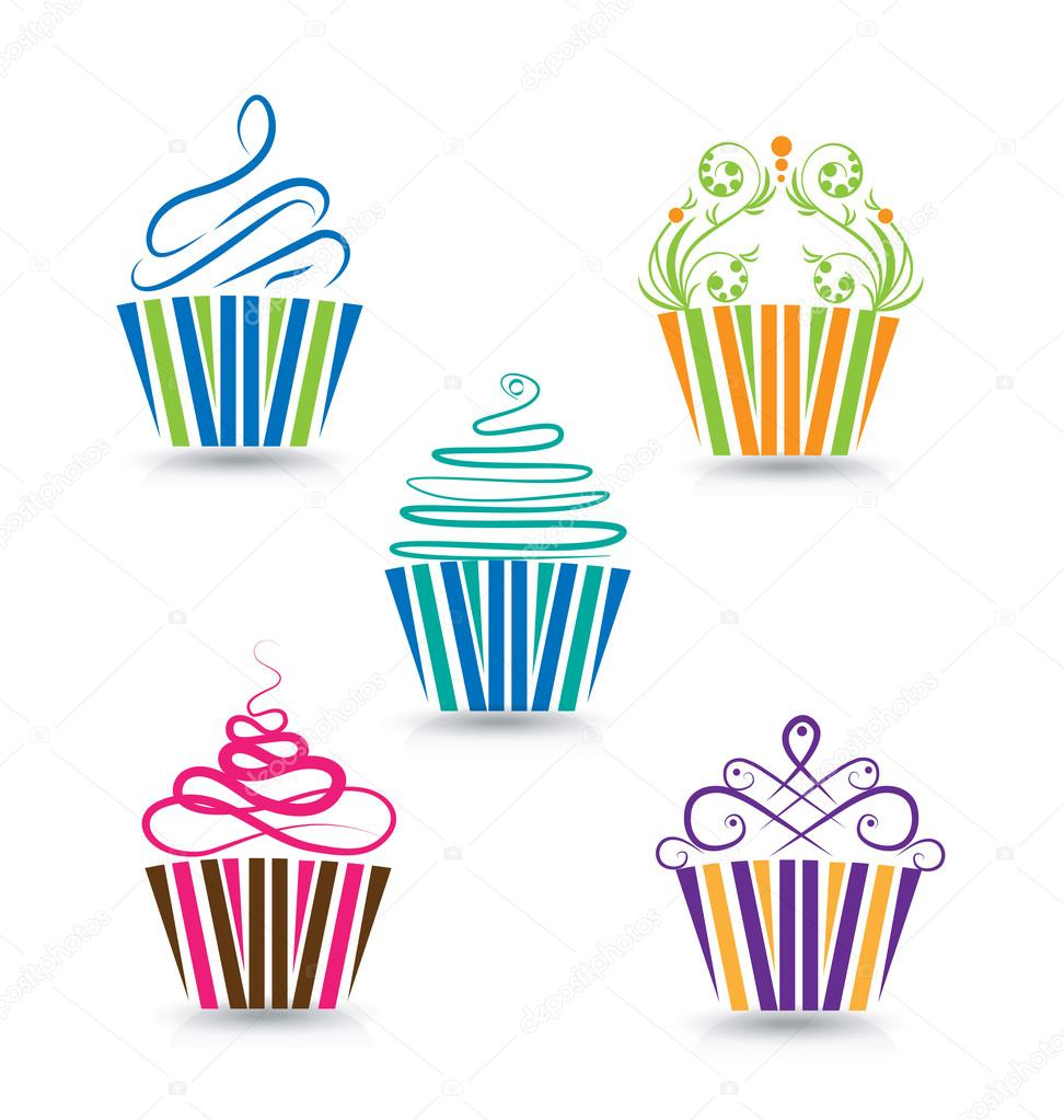 Cupcake stylized logo template — Stock Vector © Glopphy #89540858