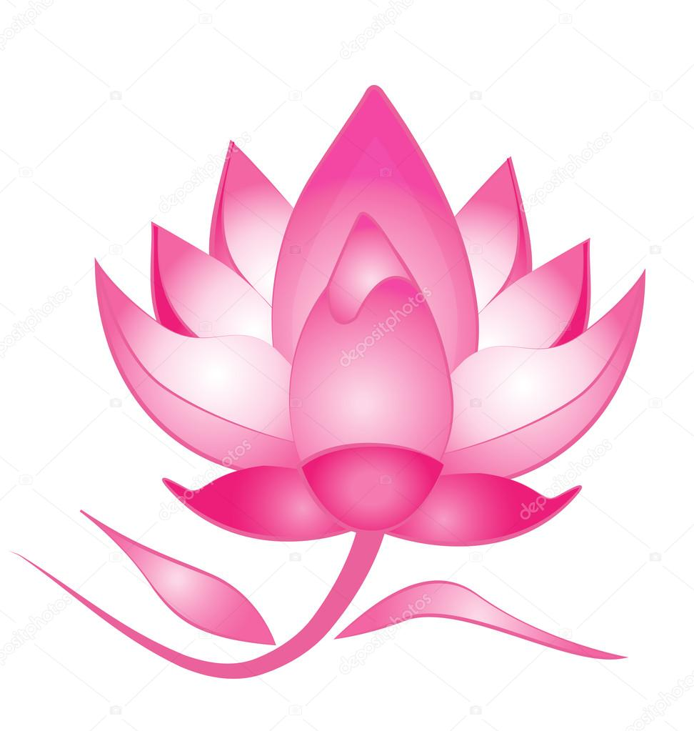 Pink lotus flower logo vector stock vector glopphy 95065174 pink lotus flower template wallpaper vector logo background vector by glopphy pronofoot35fo Choice Image