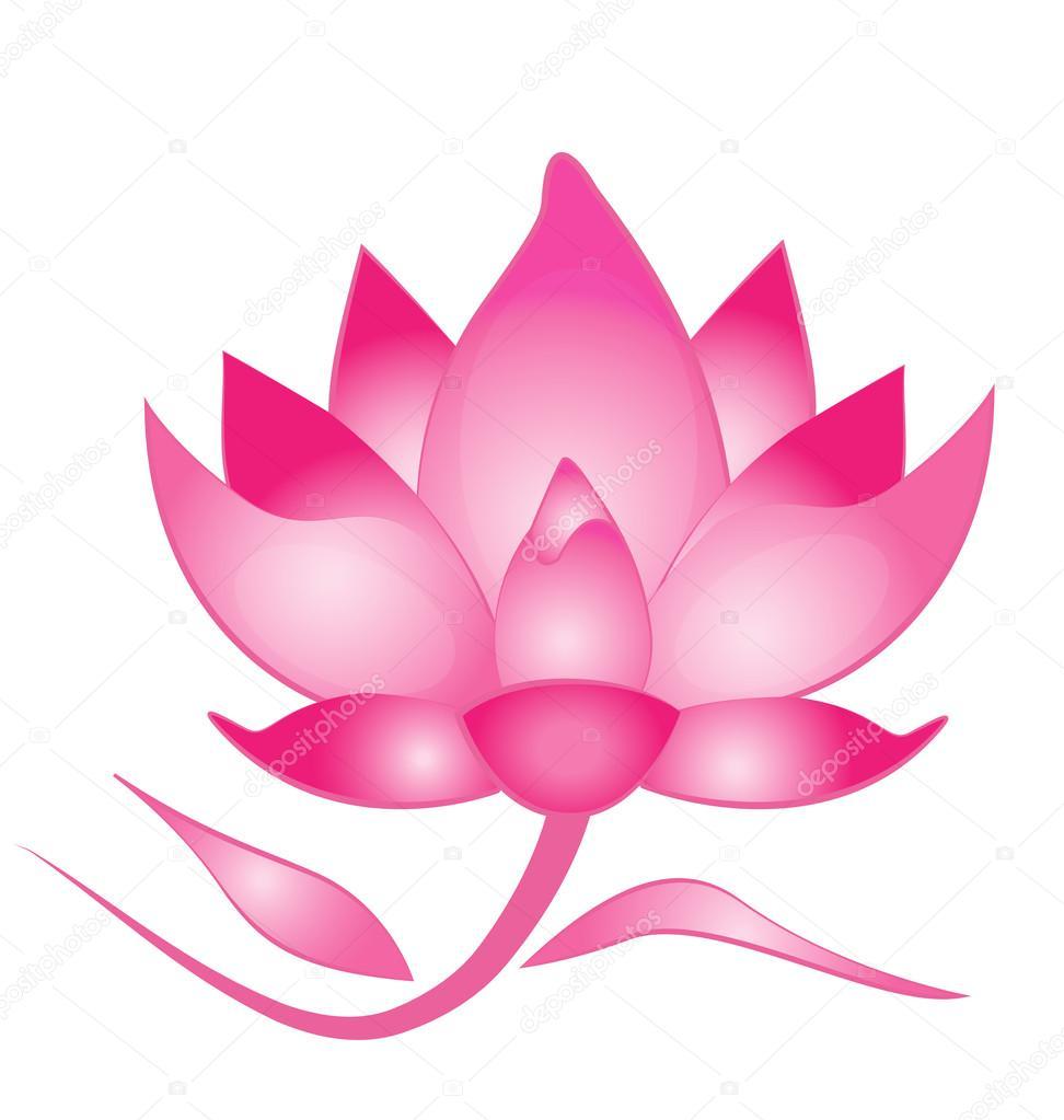 Lotus flower graphic wallpaper clipart vector labs pink lotus flower logo stock vector glopphy 95065216 rh depositphotos com izmirmasajfo