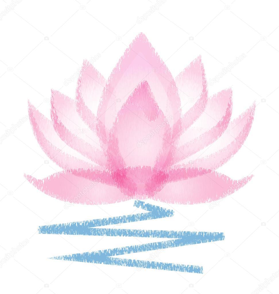 Flor Rosa Lotus Grunge Logo Vector Vetores De Stock Glopphy  -> Modelos De Papel De Parede Em Forma De Flores