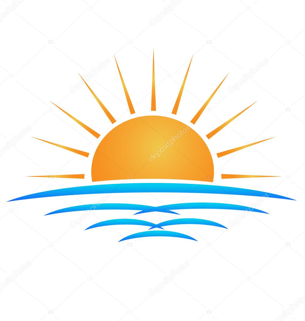 Sun beach waves logo — Stock Vector © Glopphy #95065480