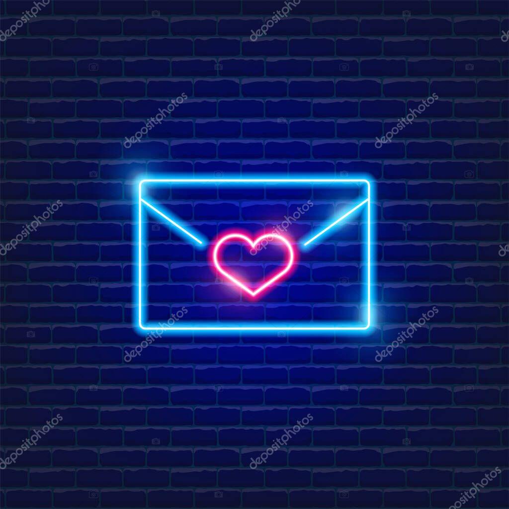 Congratulatory letter neon icon icon