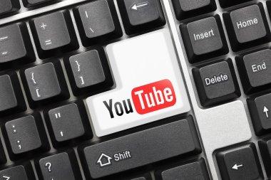 Conceptual keyboard - YouTube (key with logotype)