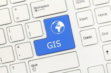 White conceptual keyboard - GIS (blue key)