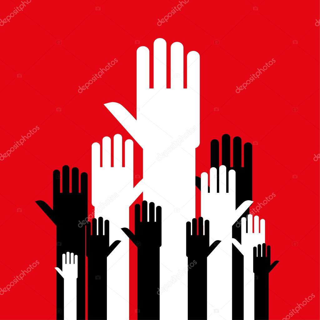 Raise Your Hands Stock Vector