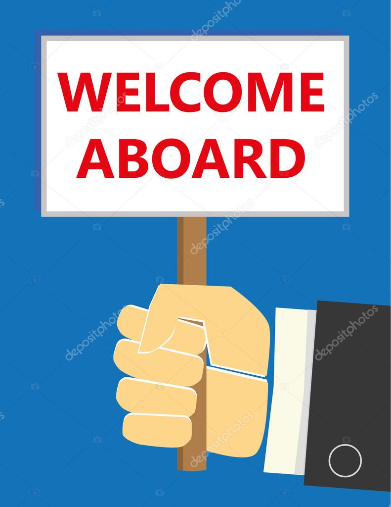 Welcome Aboard Sign Stock Vector Thinglass 113276040