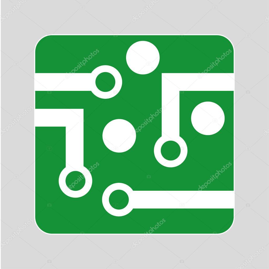 Circuit Board Logo Design — Stock Vector © thinglass #99521086