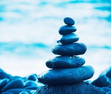 Stack of Round Smooth Zen Rocks