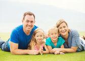 šťastná rodina mimo