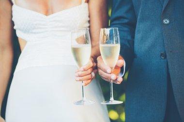 Wedding Couple Champagne