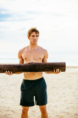 Male Athlete Exercising Outdoors