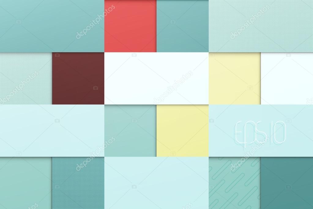 abstrakt, blauer Hintergrund mit quadratischen Rahmen. Vector ...
