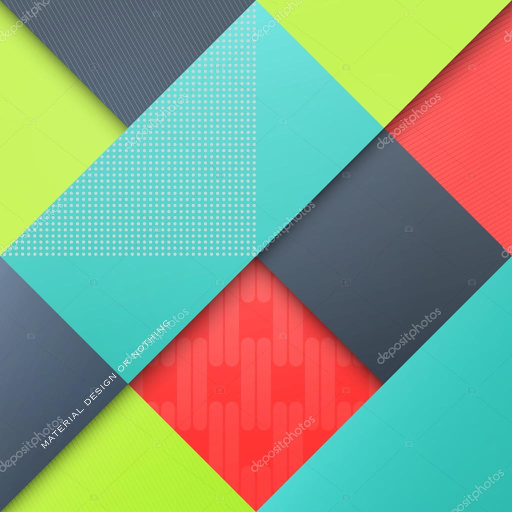 Free Colorful Geometric Wallpaper: Abstract, Colorful Background With Rhombus Shapes. Vector