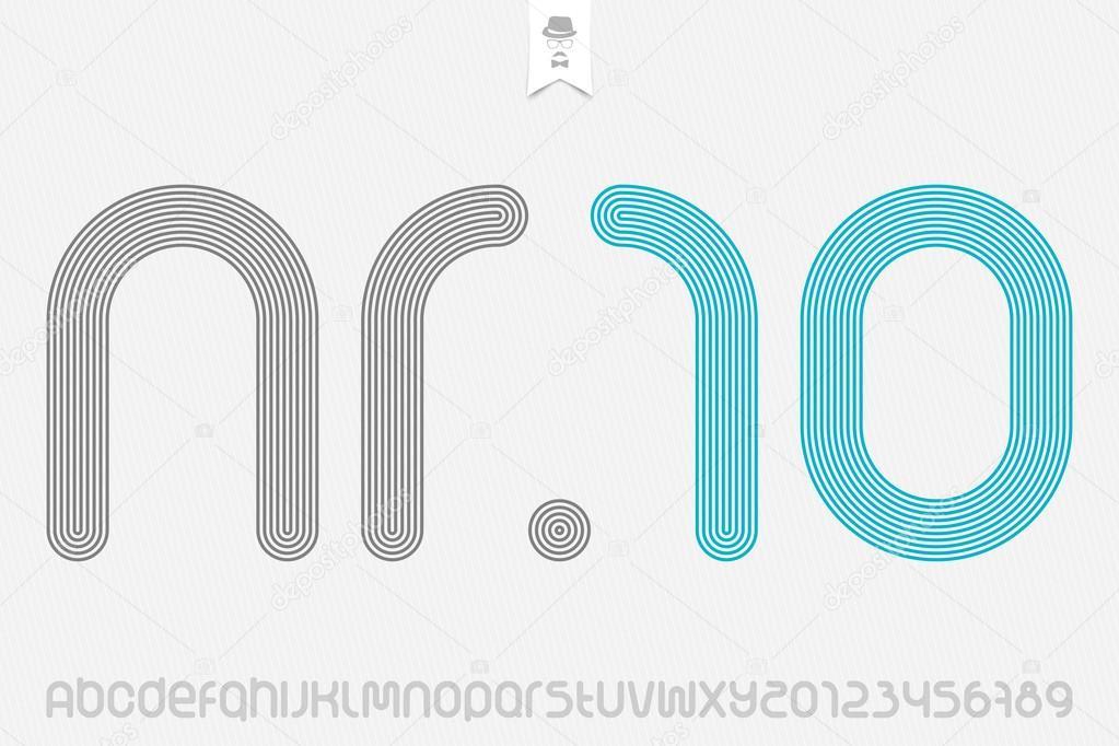 54cb02110 conjunto de esporte estilo letras do alfabeto e números isolados no fundo  branco. Vector