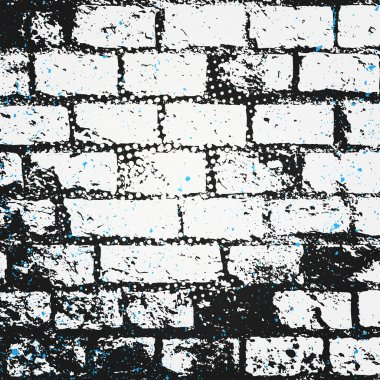 abstract, brick wall surface. vector, street art paper texture. grungy blocks, industrial background design. rough wallpaper with old, distressed bricks pattern