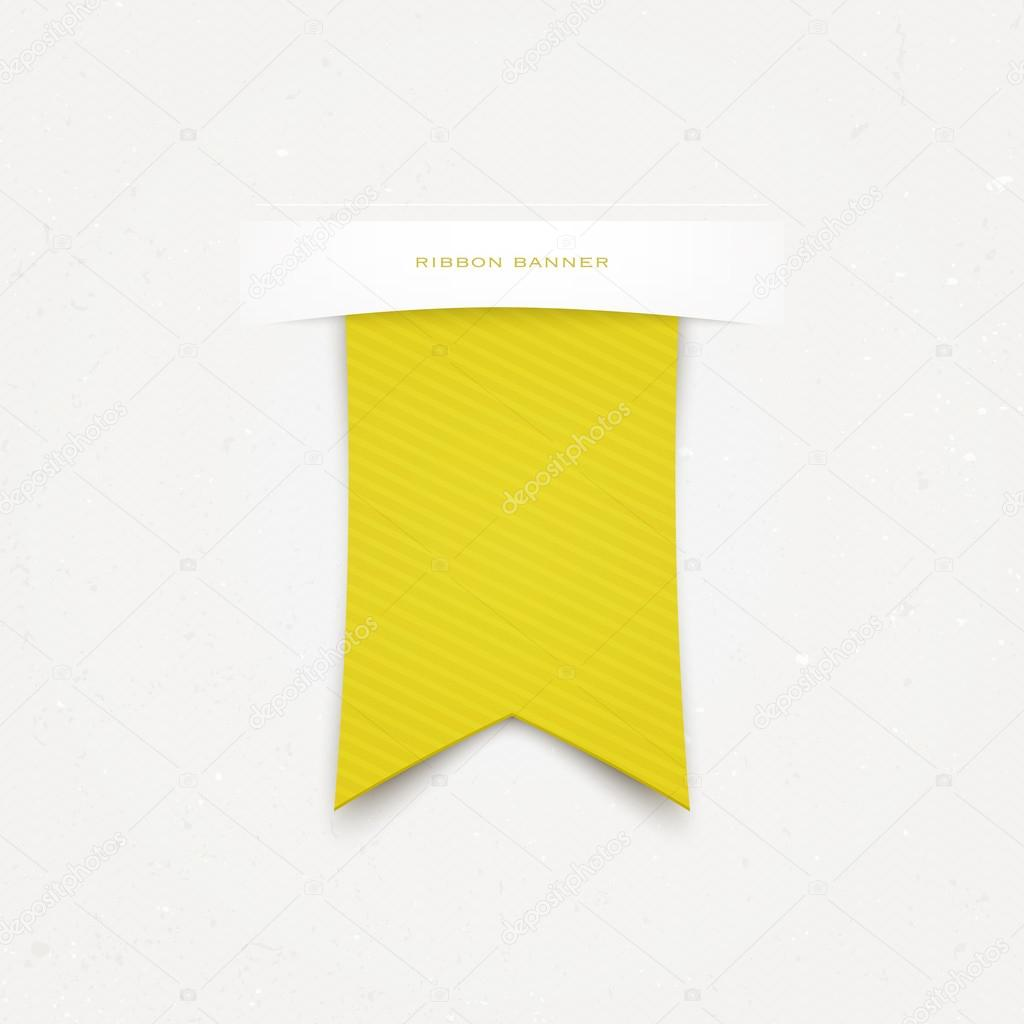 gelben oder goldenen Band Lesezeichen isoliert auf weißem ...
