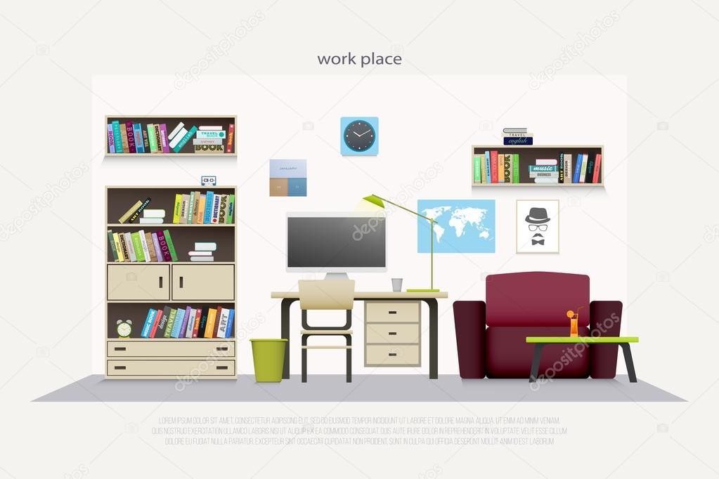 Moderne werkplaats met houten meubilair en professionele