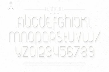 set of round thin line style alphabet letters and numbers on white background. vector font type design. modern commercial lettering icons. stylized logo text typesetting. contemporary typography template