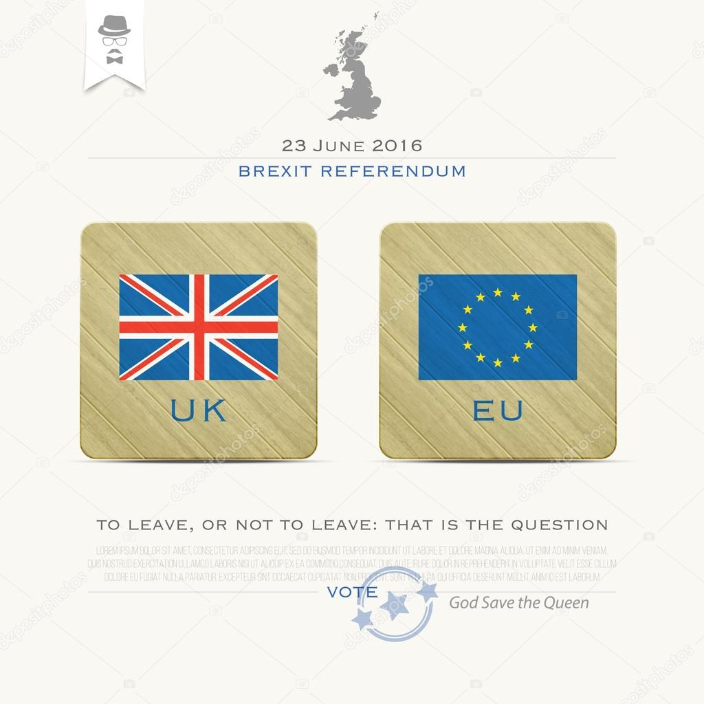 United Kingdom withdrawal from the European Union banner template ...