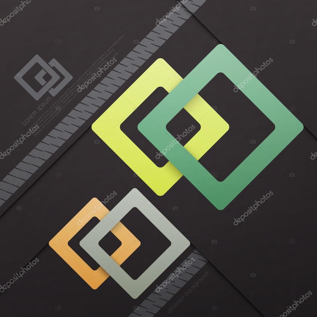 Quadrate-Vorlage — Stockvektor © metrue #74794767
