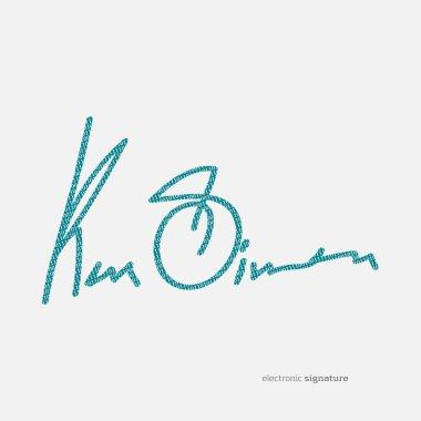 blue electronic signature