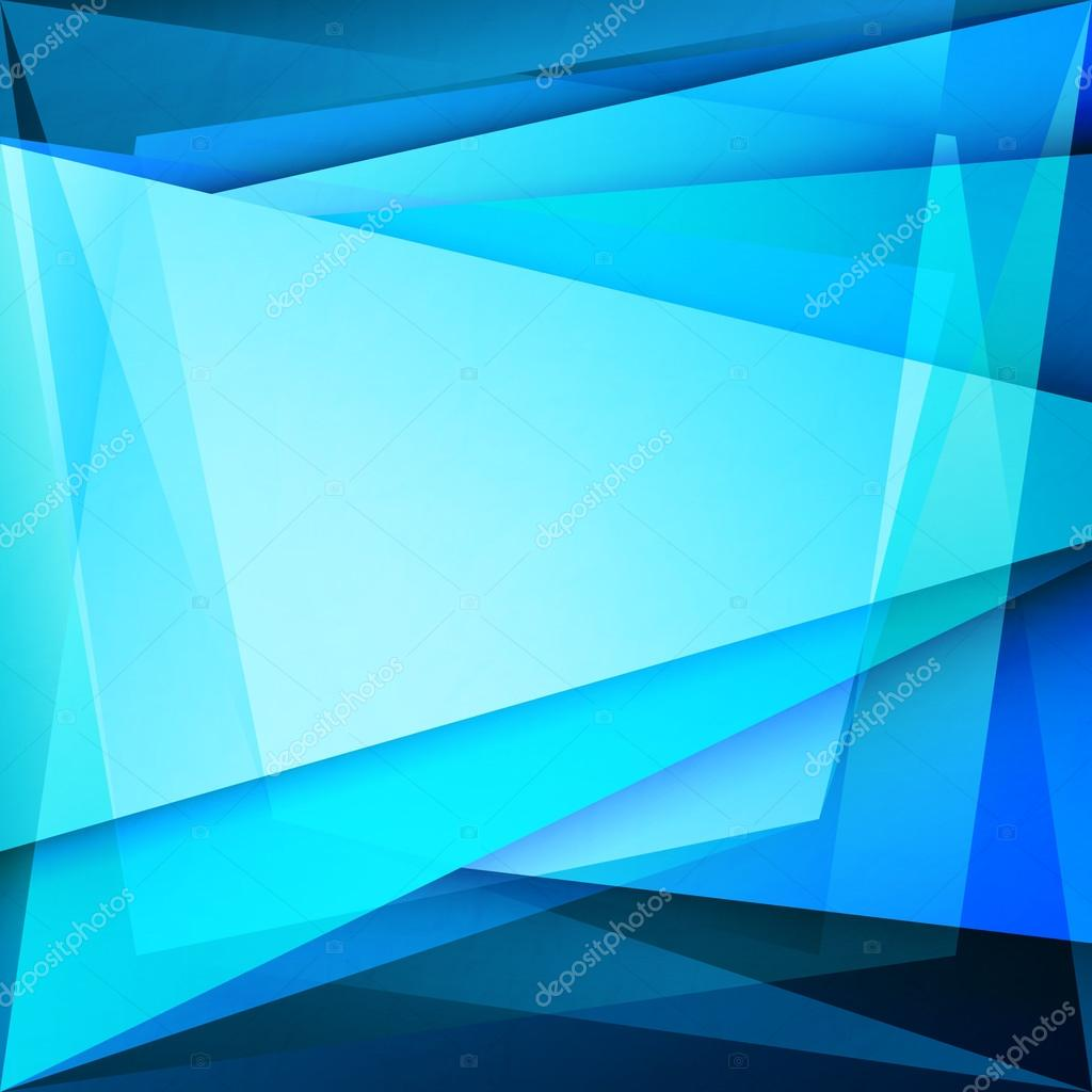 Fondo abstracto con marco azul sobre la superficie de vidrio ...